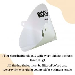 Free filter cone included with shellac