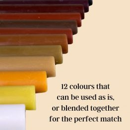 12 colours that can be blended together