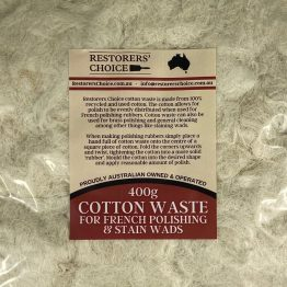 cotton waste french polishing rubbers